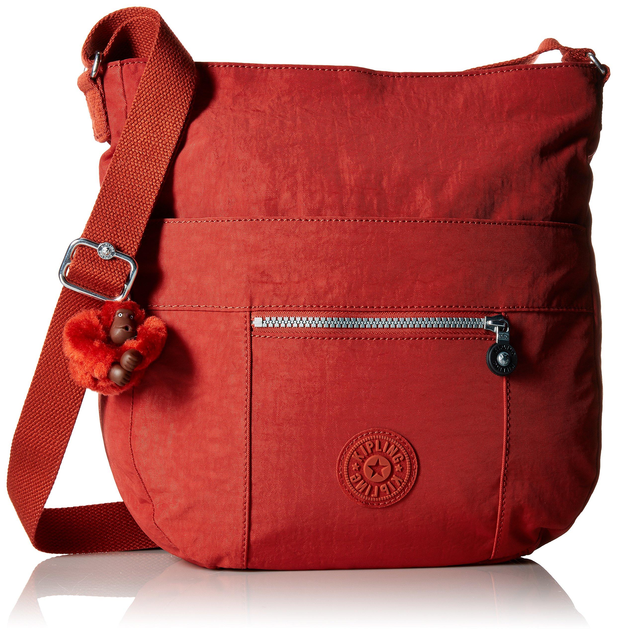 Kipling Bailey Solid Hobo Crossbody Bag, Red Rust