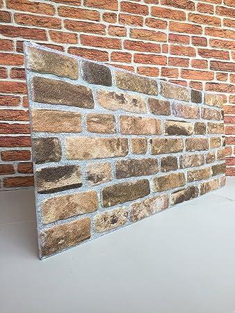 wandverkleidung in steinoptik fur schlafzimmer wohnzimmer kuche und terrasse in klinkeroptik look