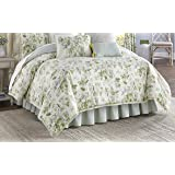 Waverly 15552BEDDKNGSPR 4 Piece Reversible Comforter Set, King, Spring