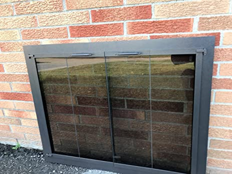 Stoll Glass Fireplace Door Screen Bar Stock Copper Vein Finish Bi Fold Doors  39u0026quot;