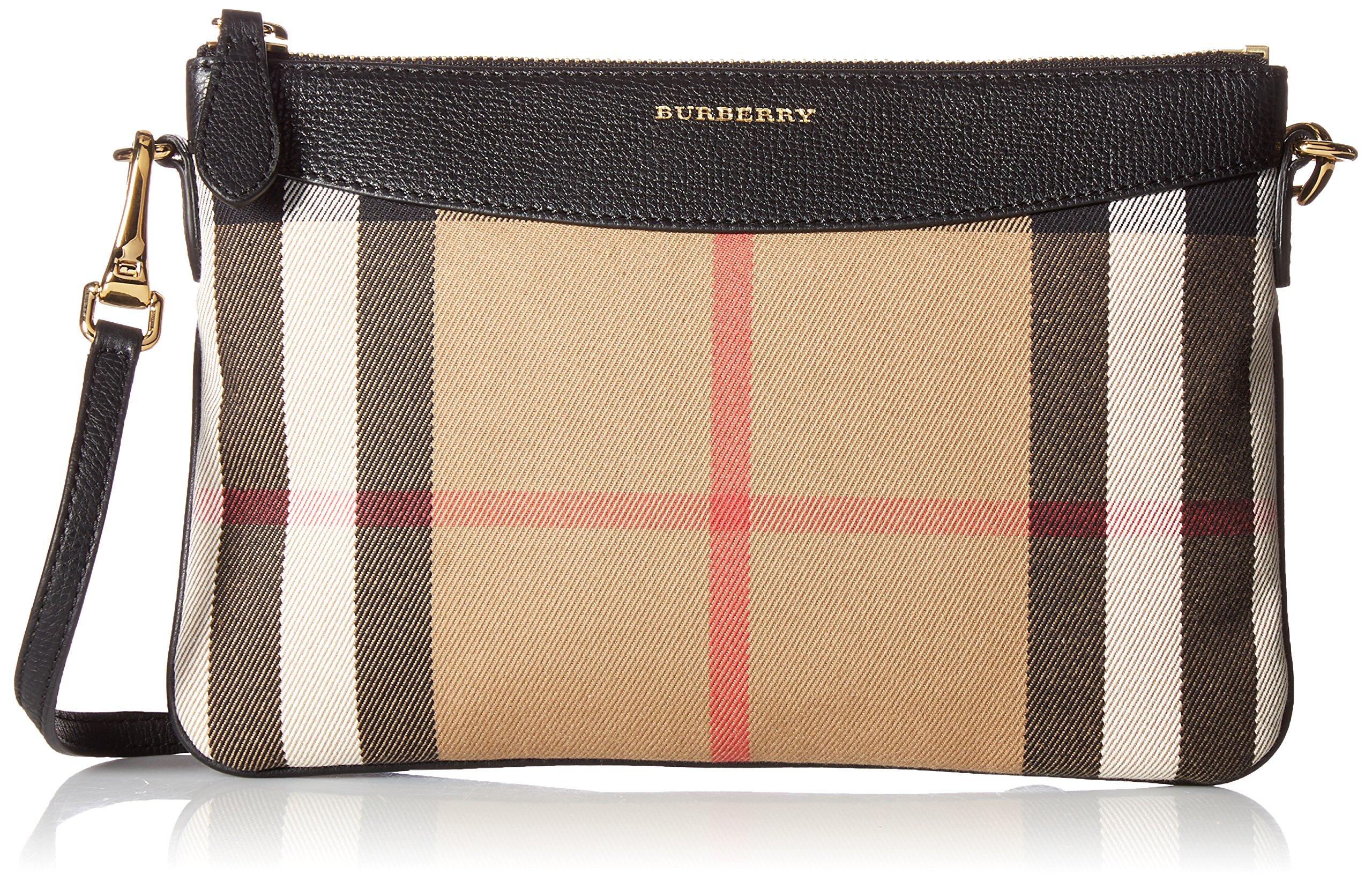 BURBERRY House Check Crossbody Bag 3975376, Black