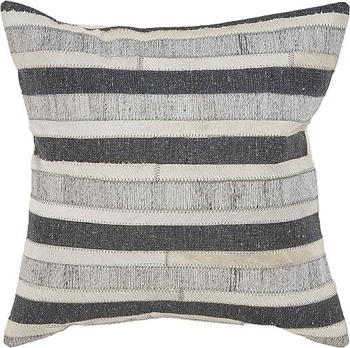 L.R. Resources PILLO07331CBIFFPL Throw Pillow, 20 x 20 , Charcoal Beige
