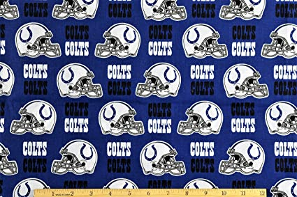 Image Unavailable. Image not available for. Color  Fabric Traditions NFL  Cotton Broadcloth Indianapolis Colts Blue White ... 0f47ced8d