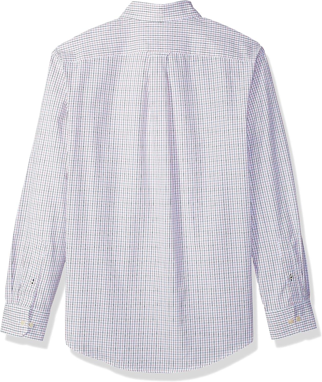 IZOD Mens Button Down Long Sleeve Stretch Performance Check Shirt
