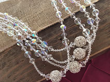 Amazon.com : Crystal Wedding Lasso Authentic Swarovski Crystal Ab Finsh 12 Round Cut, Lazo Para Boda, Wedding Rosary, Laso, Mancuerna : Everything Else