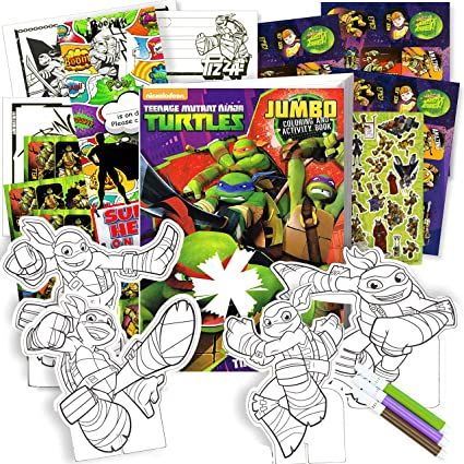 - Amazon.com: TMNT Teenage Mutant Ninja Turtles Coloring Activity Book Set  With Stickers, Play Pack, Door Hanger, And More!: Toys & Games