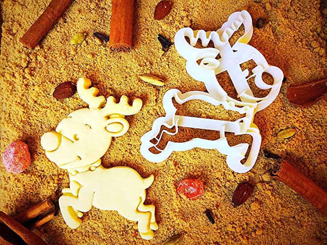 Rudolph Cookie Cutter Unique Christmas Presents Mini Cutters For Baking Cookies Small 3d Sugarbelle Animal Shapes Biscuit Mold By Sugary Charm