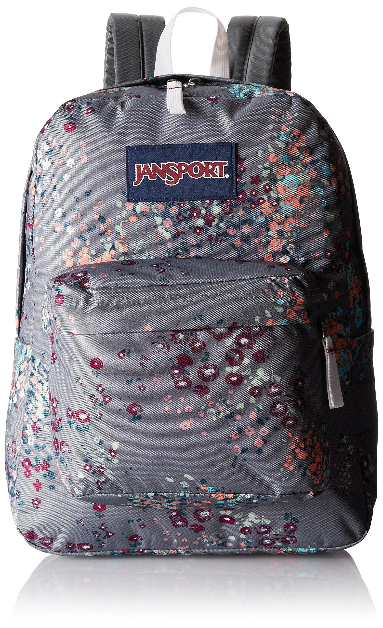 JanSport Unisex SuperBreak Shady Grey Sprinkled Floral One Size