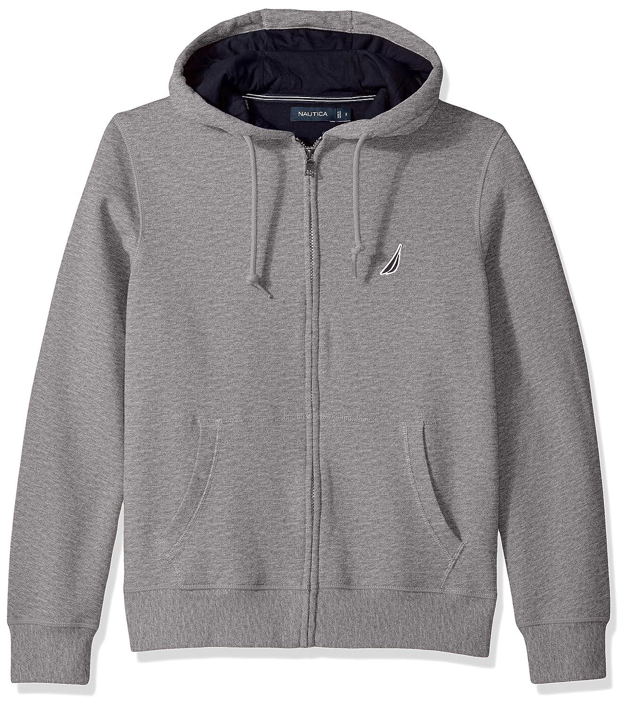 Nautica Mens Standard Long Sleeve Heavy Sueded Fleece Hoodie with Kangaroo Pocket K73170