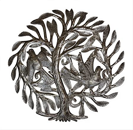 Garden Tree of Life, Haitian Metal Art, Recycled Oil Drum, Fair ...