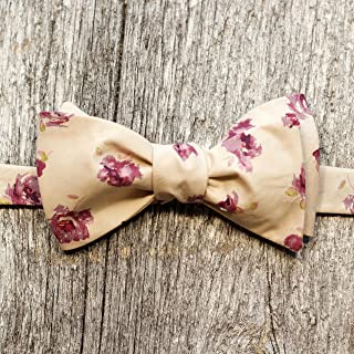 product image for Alabaster and plum Liberty of London, hand made bow ties.