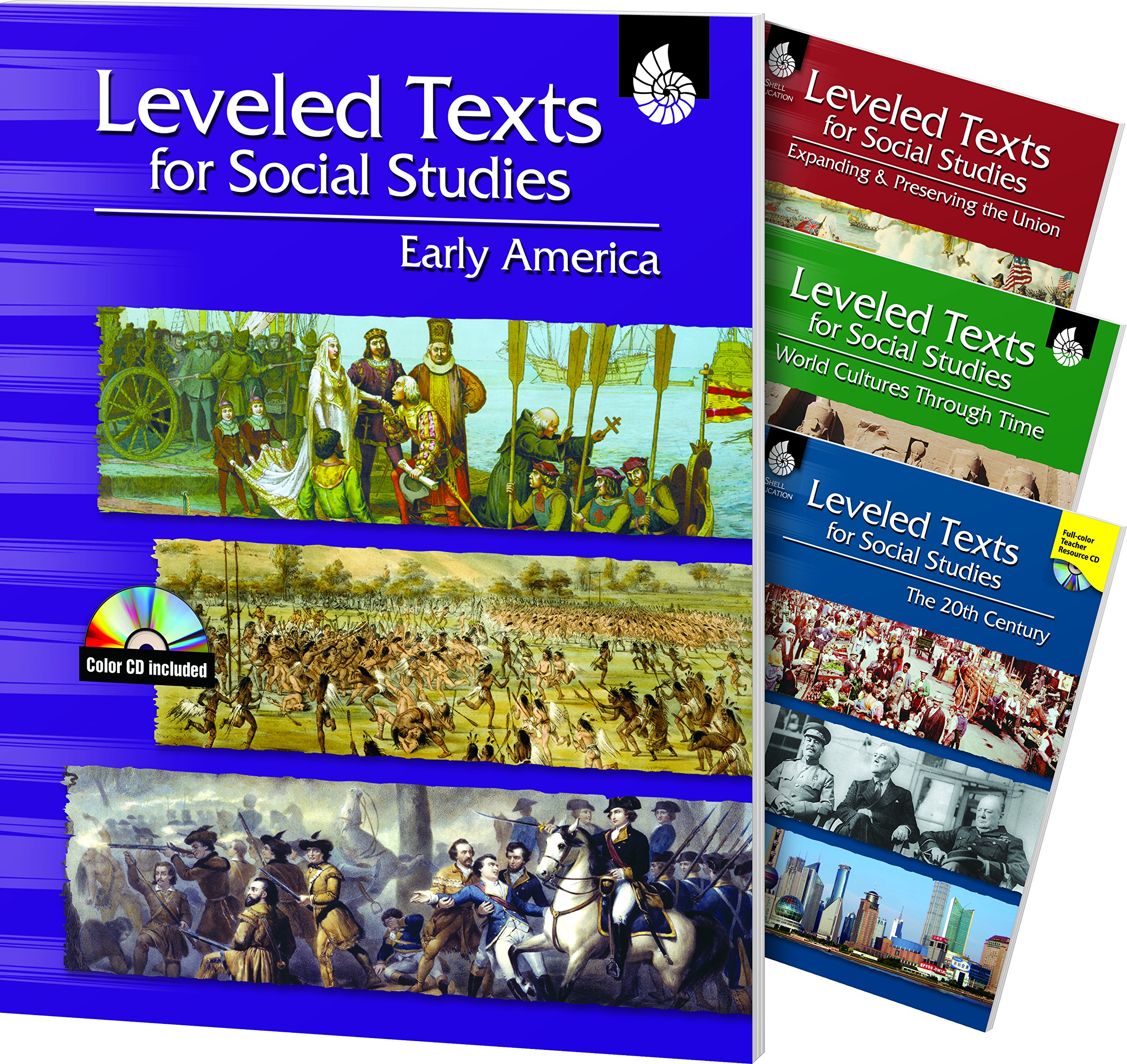 Leveled Texts for Social Studies: 4-Book Set