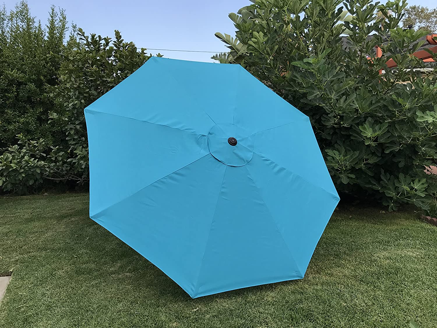 BELLRINO DECOR Replacement Turquoise/SPA Blue Strong & Thick Umbrella Canopy for 9ft 8 Ribs (Canopy Only)