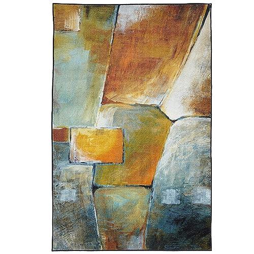 Mohawk Area Rug, 5 x8 , Painted Blocks