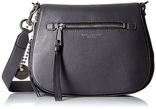 2905e19a6 Amazon.com: Marc Jacobs Recruit Saddle Bag, Shadow: Clothing