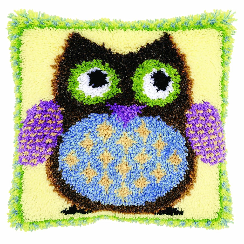 Amazon Com Vervaco Latch Hook Cushion Kit Mr Owl