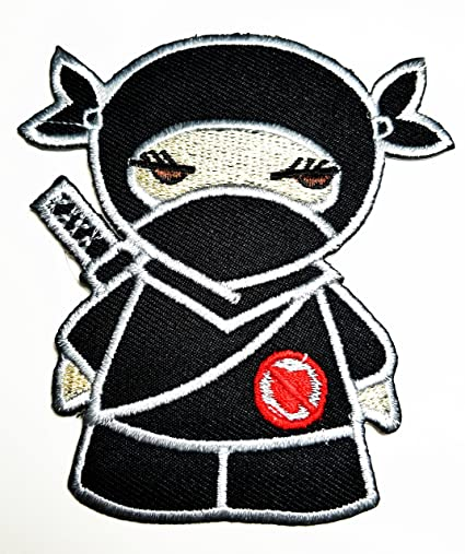 Amazon.com: HHO japonés Ninja Kid Patch bordado de dibujos ...