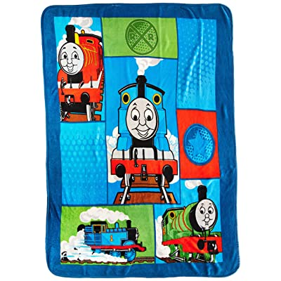 Jay Franco Hit Entertainment Thomas Track Star Fleece Throw: Home & Kitchen