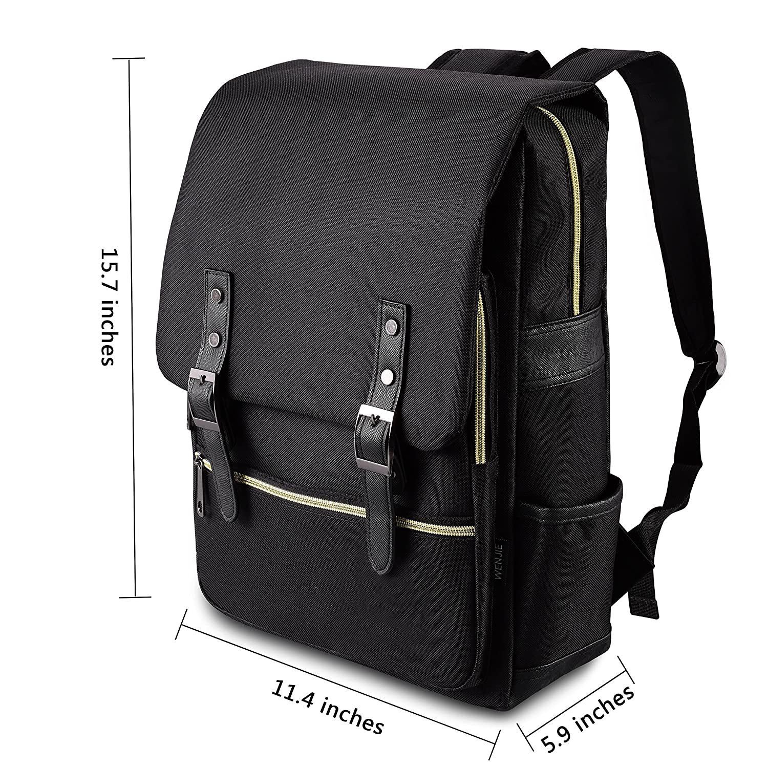 Backpacks New Mens Pu Leather Solid Business Backpack Fashion Casual Travel High-capacity Backpack