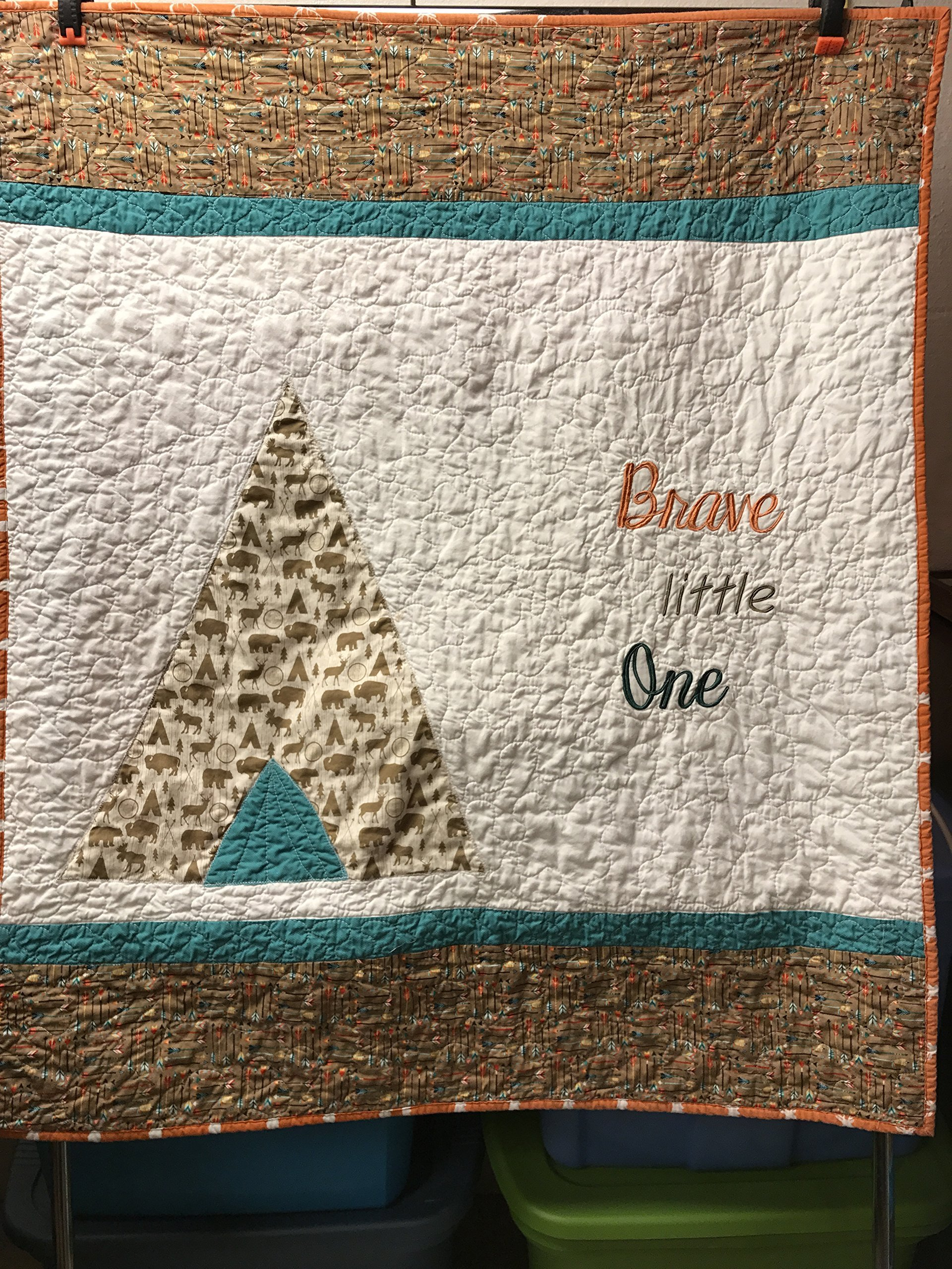 Brave baby boy quilt , Tribal baby bedding, Tribal bedding, Baby boy blanket, Teepee blanket, Rustic quilt, Arrow quilt