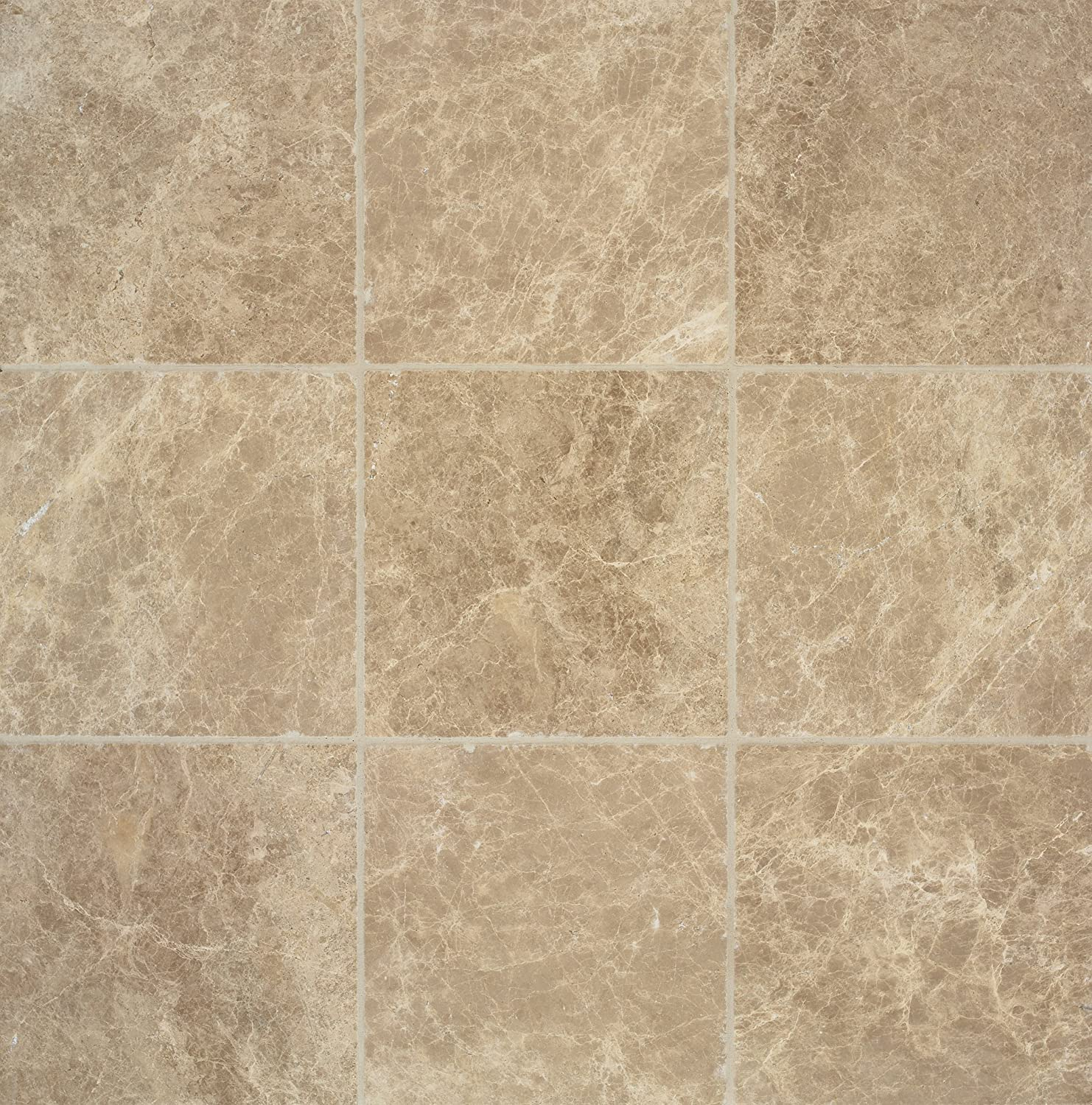 Arizona Tile 6 by 6-Inch Tumbled Marble Tile, Emperador Light, 6 ...
