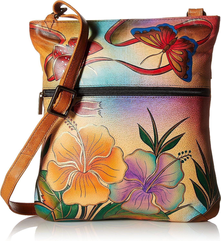 Anna by Anuschka Slim Crossbody Bag - Genuine Leather