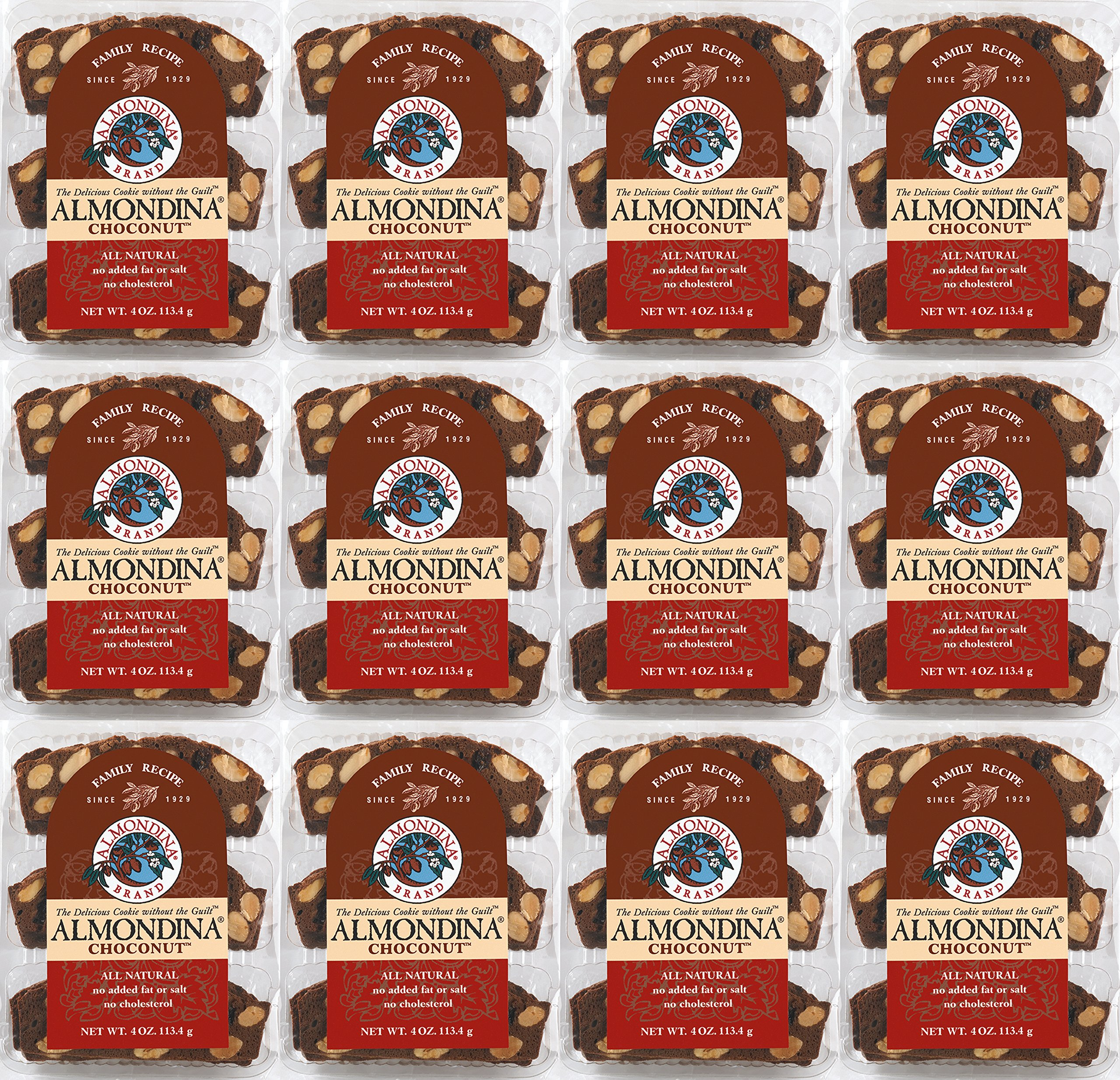 Almondina Biscuits, Choconut, 4 ounce, 12 pack by Almondina