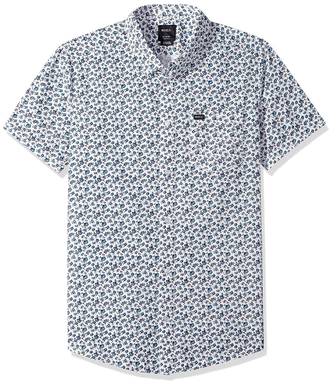 RVCA Men's Porcelain Short Sleeve Shirt