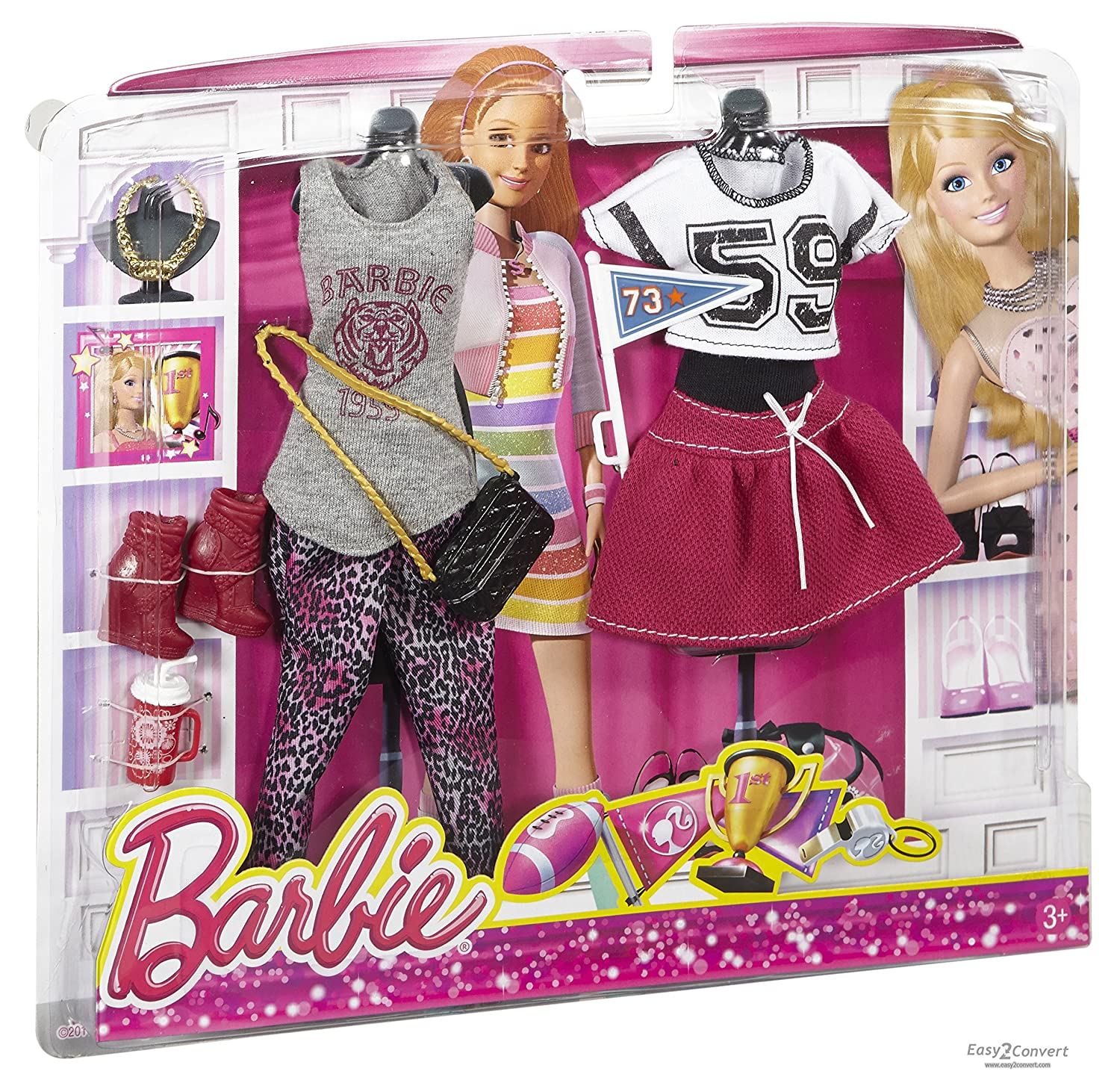 kids itm clothes ultimate girls fashionistas wardrobe barbie purple new closet portable
