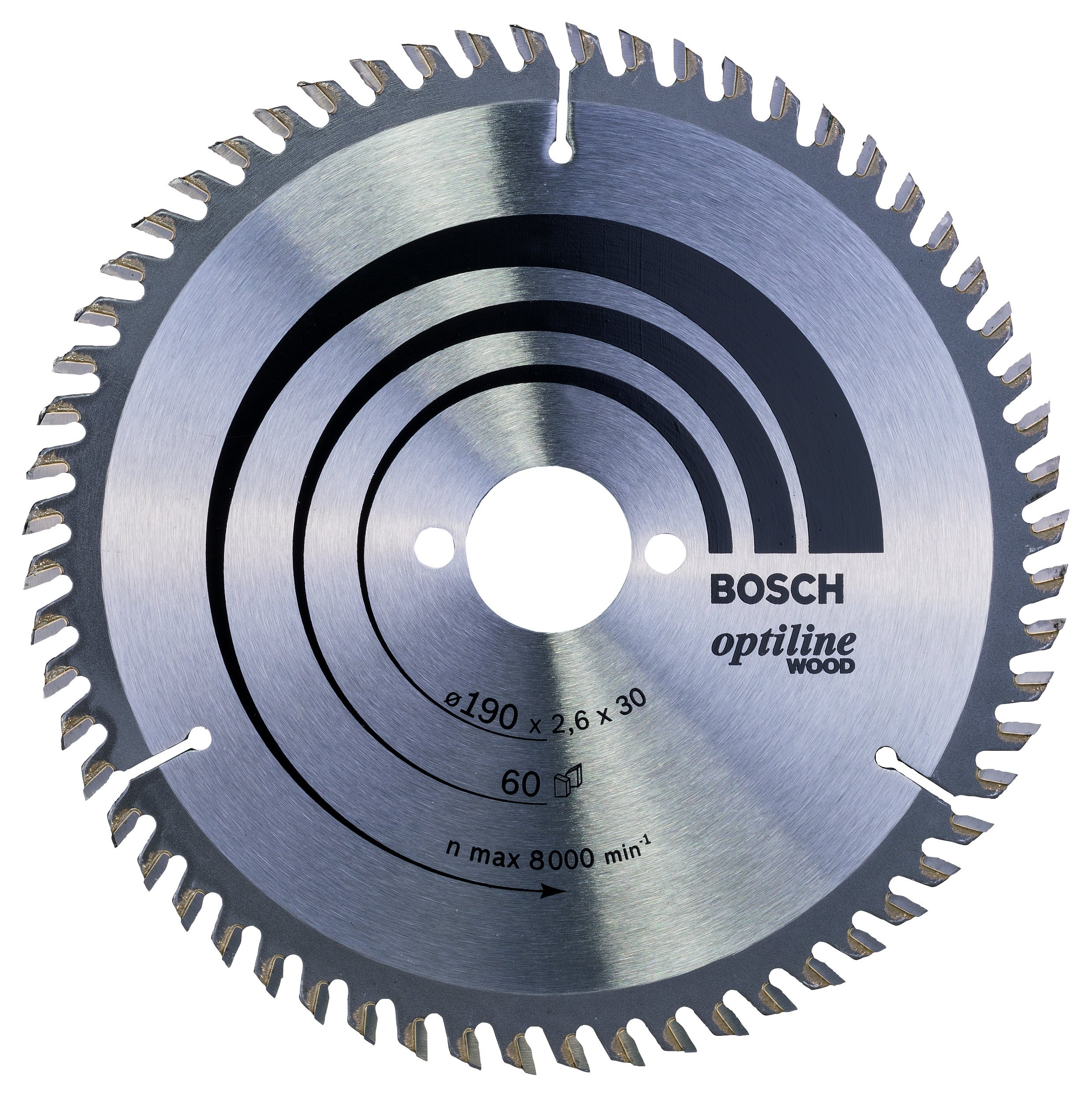 Bosch 2 608 641 188 - Hoja de sierra circular Optiline Wood - 190 x 30