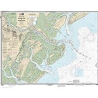 "MapHouse NOAA Chart 11512 Savannah River and Wassaw Sound: 35.7"" X 44.6"" Paper Chart"