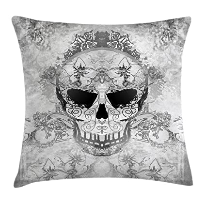 c93d263d2c1 Amazon.com  Ambesonne Day of The Dead Decor Throw Pillow Cushion ...