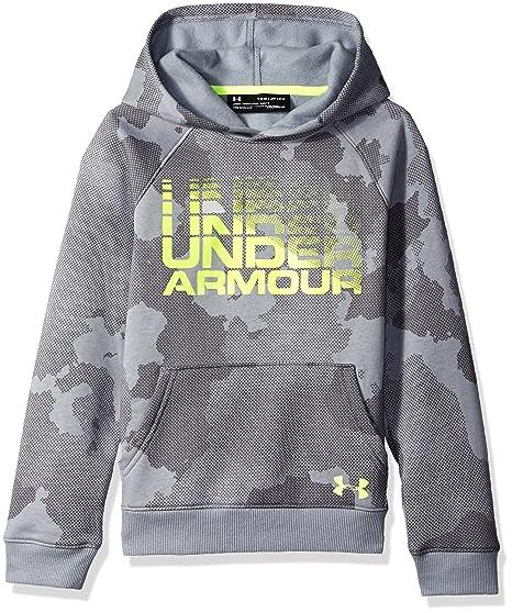 6e21c99a143 Amazon.com  Under Armour Boys Rival Wordmark Hoodie  Sports   Outdoors