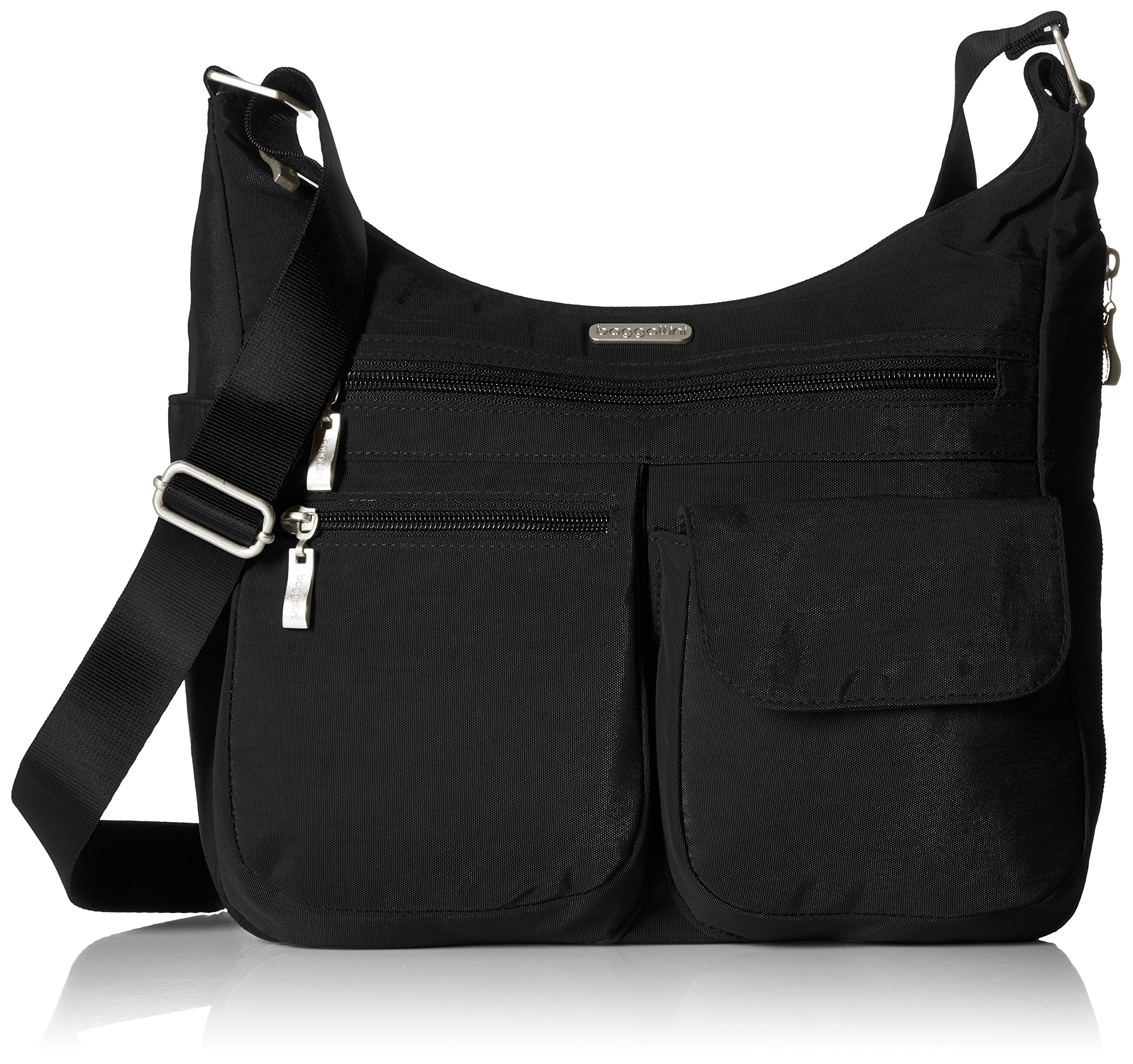 Baggallini Everywhere Travel Crossbody Bag, Black, One Size