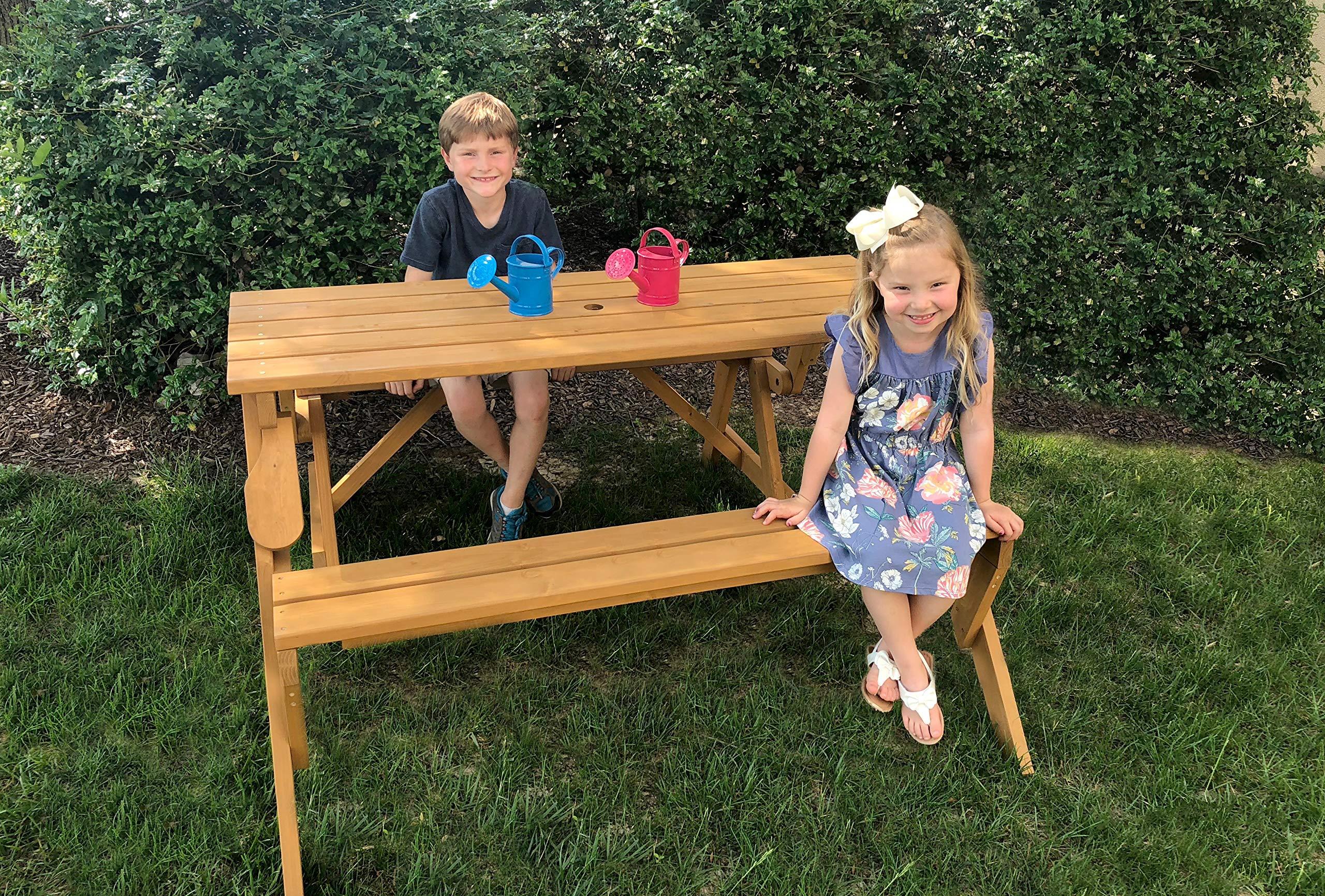 Tierra Garden 2-in-1 Convertible Junior Picnic Table/Bench by Tierra Garden (Image #4)