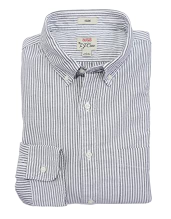 83826f58099c24 J.Crew Men's Slim Fit Striped Oxford Shirt at Amazon Men's Clothing store: