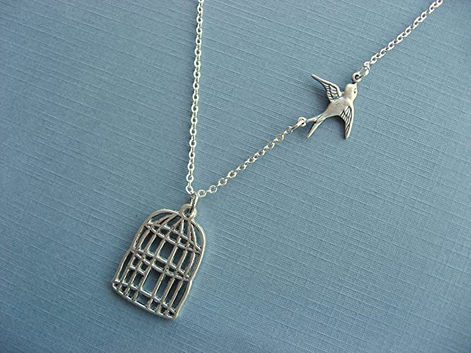 Amazon graduation necklace be free bird necklace cage pendant graduation necklace be free bird necklace cage pendant bird pendant necklace silver mozeypictures Image collections
