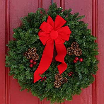 worcester christmas wreath classic 24 inch maine balsam christmas wreath