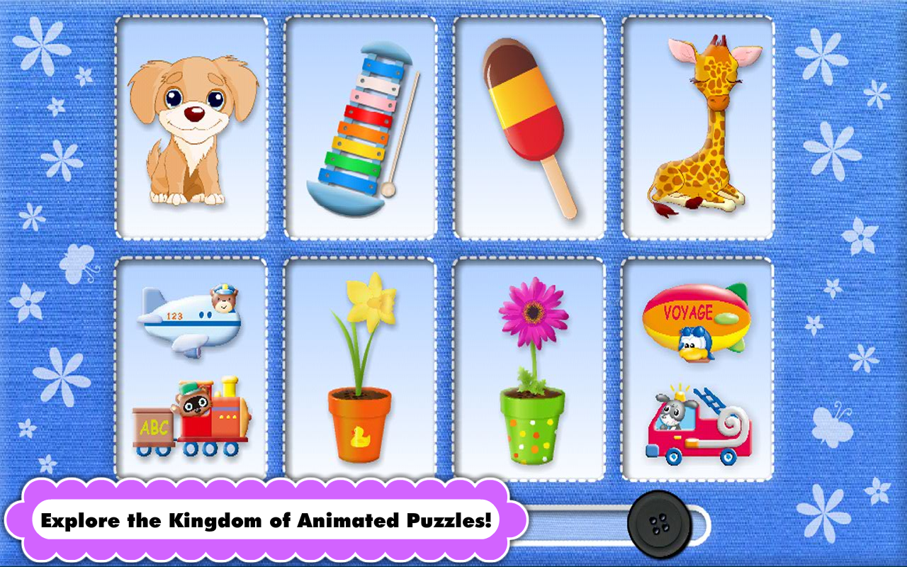 Preschool Puzzles Games with Animated Animals, Vehicles