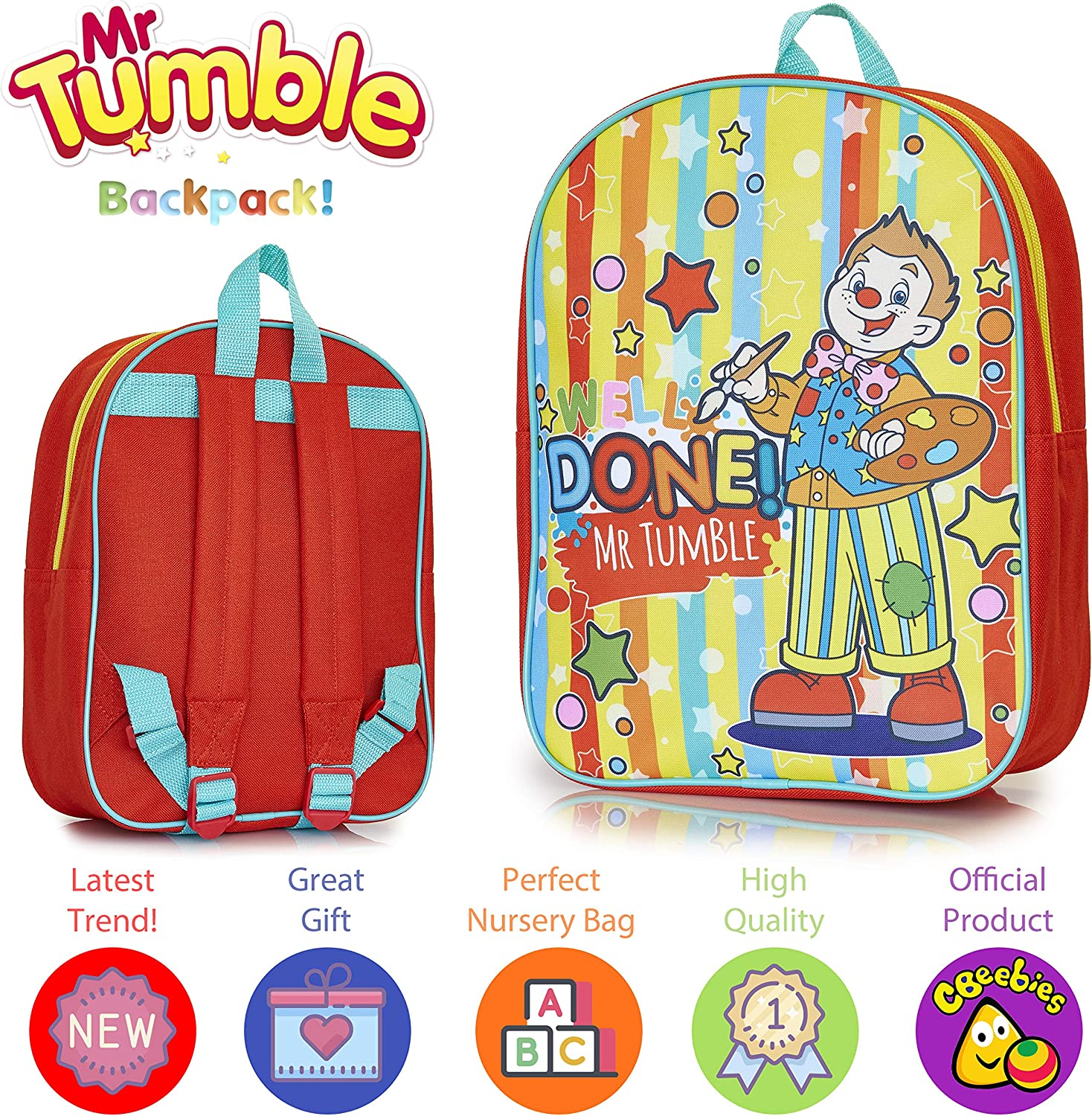 Sac Mr Tumble SpottyWell Done Mr Tumble Toddlers Sac à dos pour école Nursery