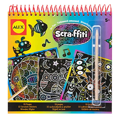 Alex Toys Artist Studio Scra Ffiti So Fun Scratch Pad Coloring And Sketch Book