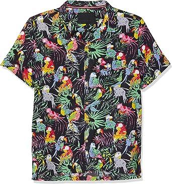 Soul Star Multi Parrot Camisa Casual para Hombre: Amazon.es: Ropa y accesorios