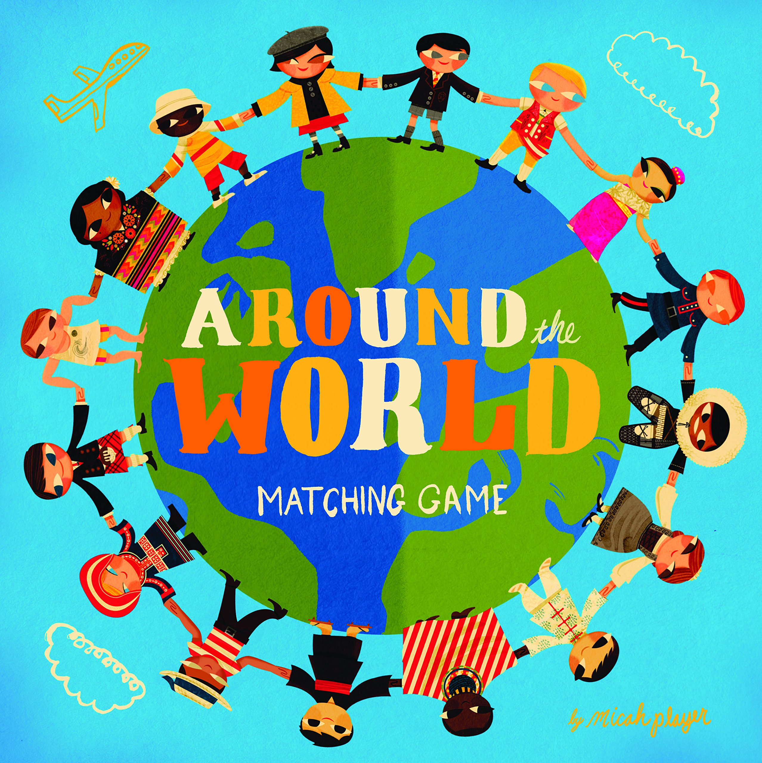 d2e49d5f40ff9 Around the World Matching Game: Micah Player: 9781452116990: Amazon ...