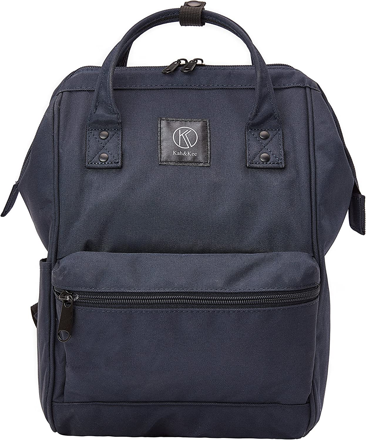 Kah&Kee Polyester Travel Backpack Functional Anti-theft School Laptop for Women Men (Navy, Small)