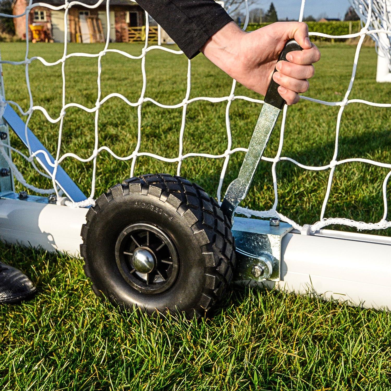 交換用ポータブルサッカーゴールホイール&ブラケット[ Net世界スポーツ] B06XL1GYM5 Set of 8 Wheels & Brackets