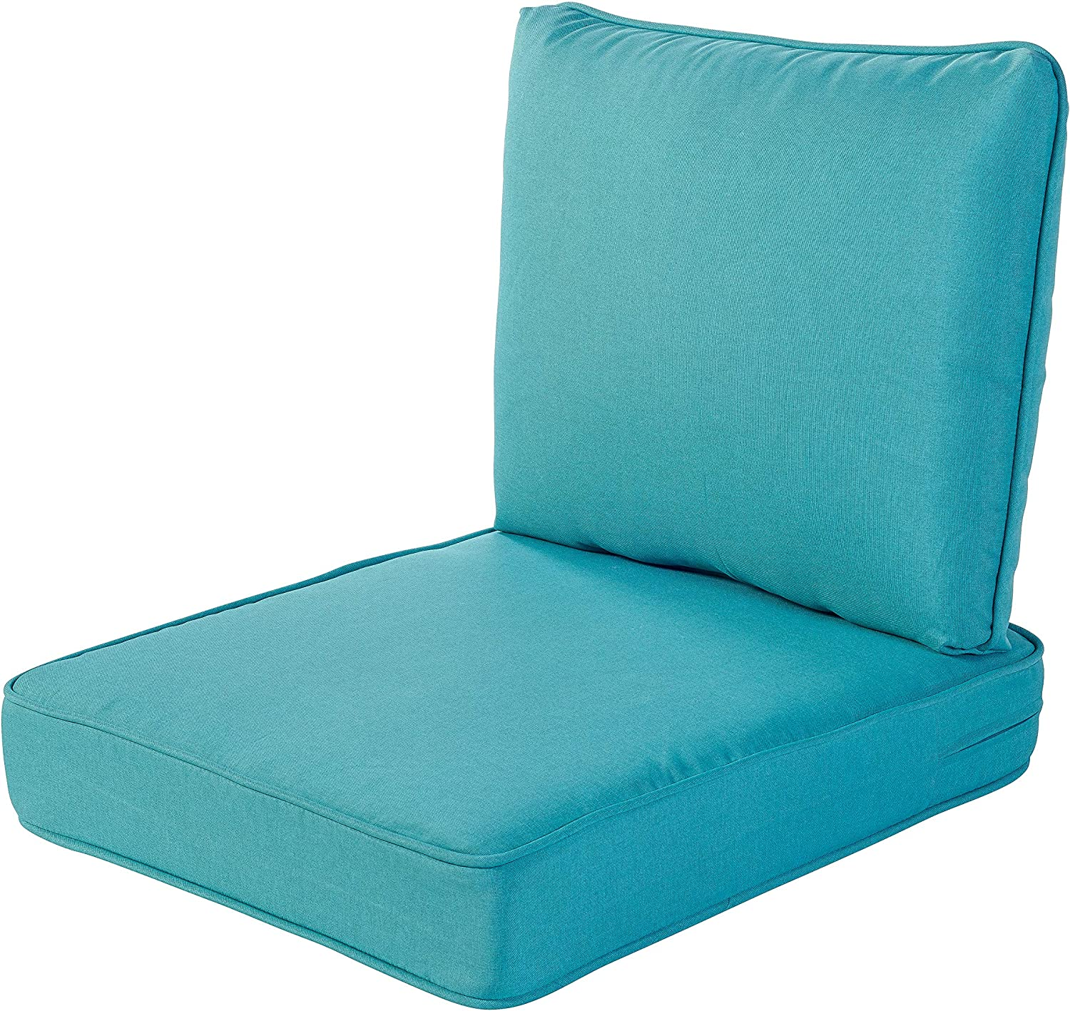 Quality Outdoor Living 29-TQ02SB All-Weather Deep Seating Chair Cushion, 23 x 26, Turquoise