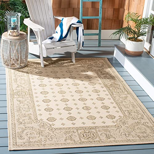 Safavieh Courtyard Collection CY1356-3001 Natural and Brown Indoor Outdoor Area Rug 8 x 11