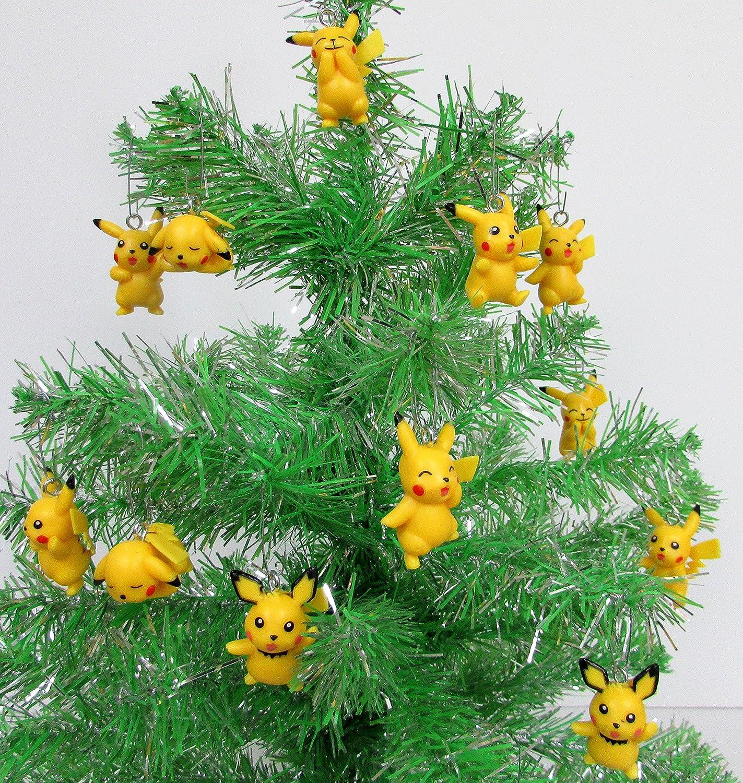 Amazon.com: Pokemon Go 12 Piece PIKACHU Christmas Ornament Set ...