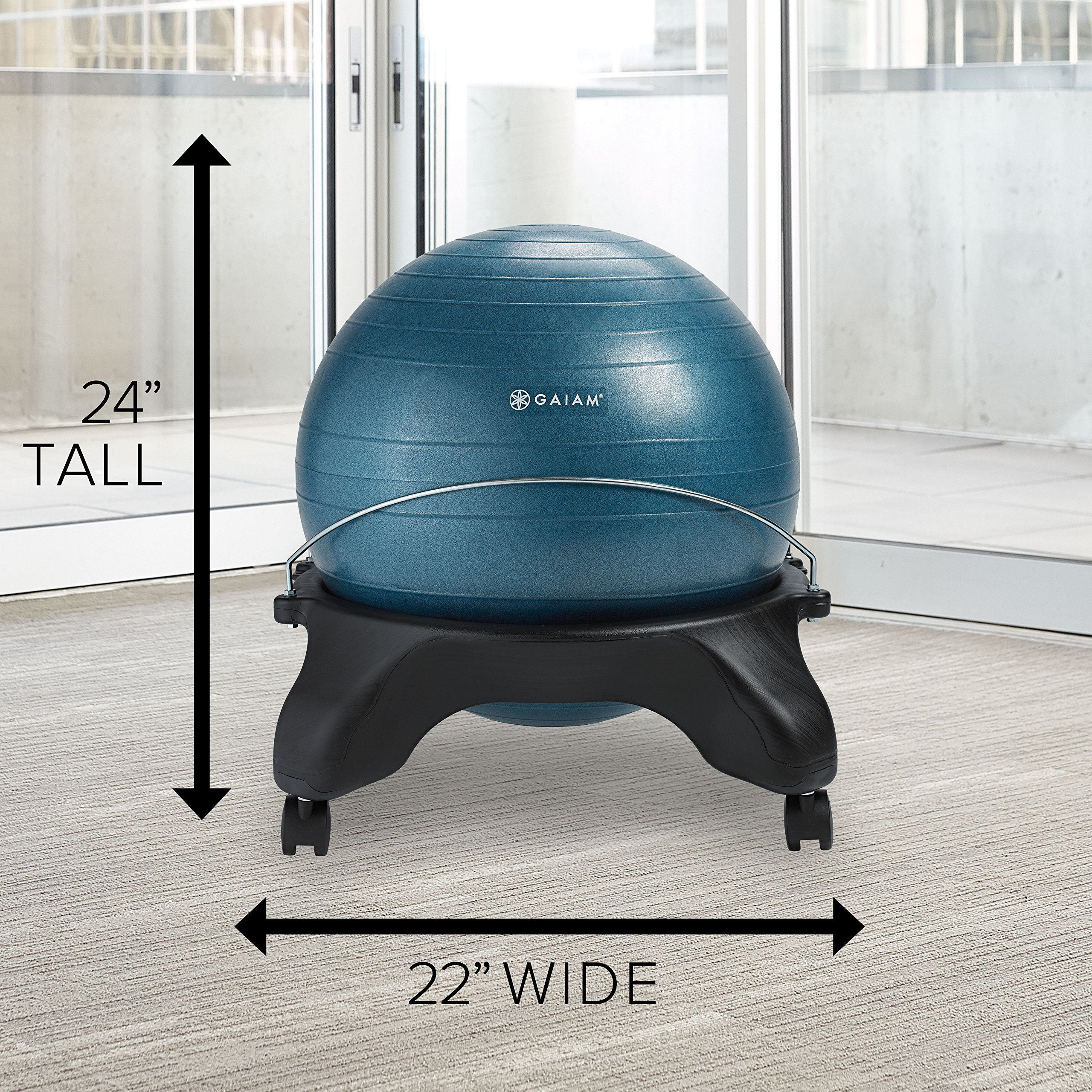 Gaiam Classic Backless Balance Ball Chair Exercise