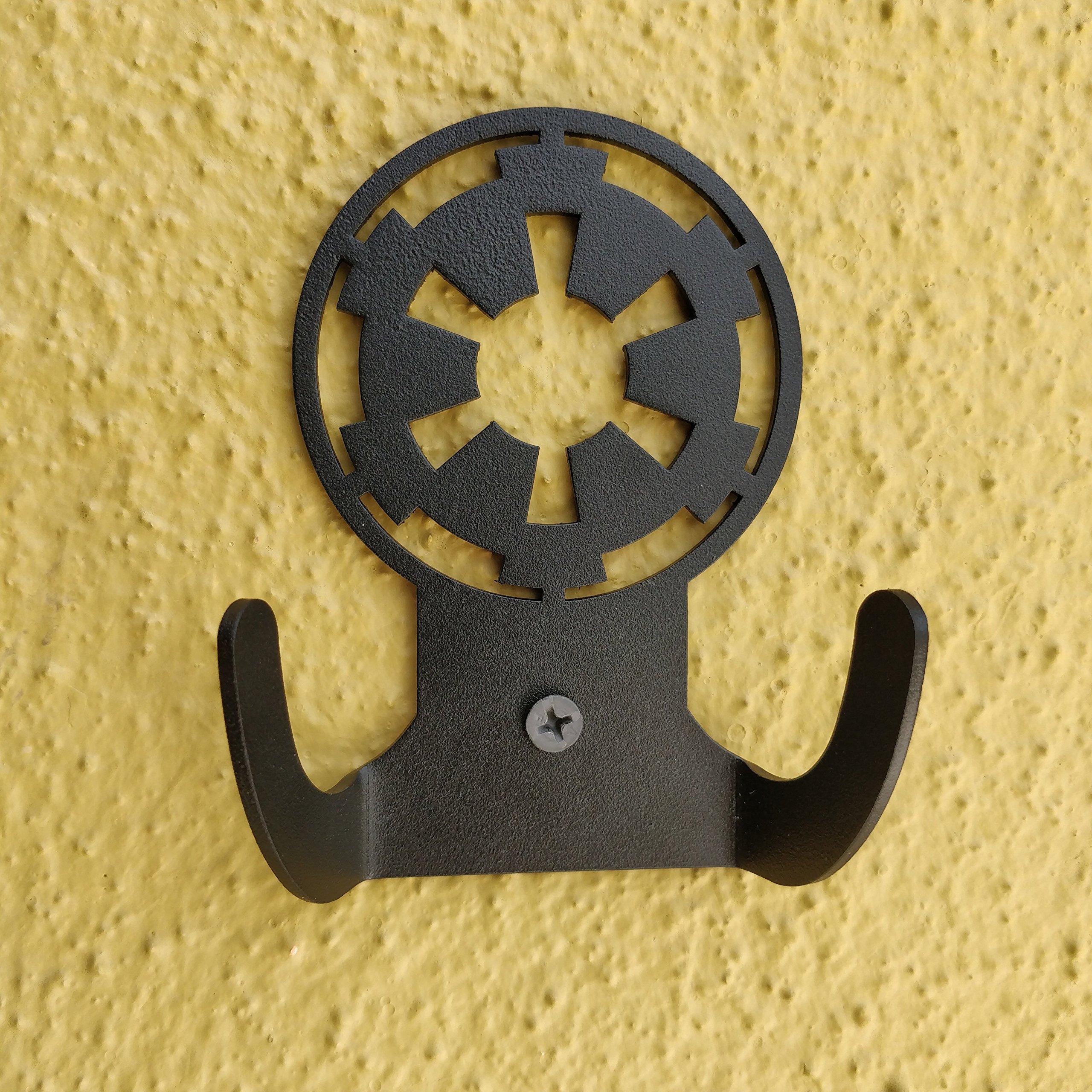 HeavenlyKraft Star Wars Logo Steel Wall Hook Dual Holder For Living Room Coat Hat Robe Hanger Bathroom Towel Kitchen Strong Heavy Duty Garage Storage Organizer Utensil Hook Single, 4 X 3.14 X 1.4 Inch